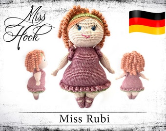 "crochet doll pattern ""Miss Rubi"" eBook PDF (german language)"