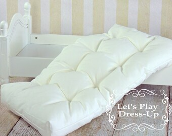 Deluxe Pillow Top Doll Mattress for 18 inch Doll Bed