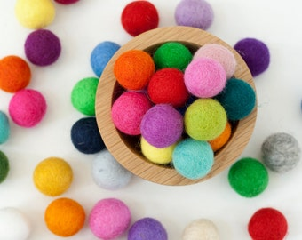 2 cm Wool Felt Balls - Pick Your Own Colors - Pom Pom Balls - Wool Felt Beads