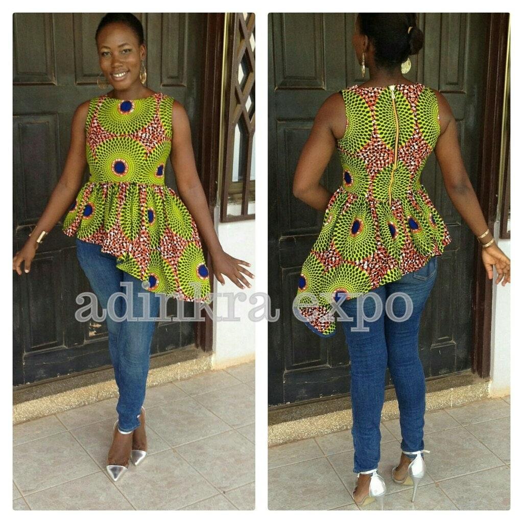 Azda Ankara Top/ Ankara Shirt / African Top / African Dress
