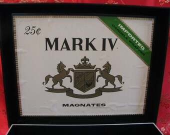 Vintage Tobacciana Cigar Box Mark IV Magnates