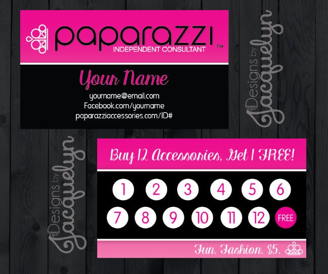 Paparazzi Accessories Frequent Buyer Business Card PRINTED