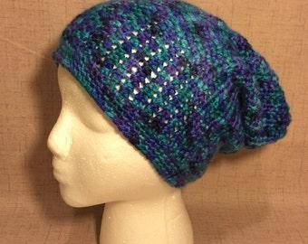 Crochet Slouchy Hat, Blue Crochet Hat, Slouchy Hat, Crochet Hat, Girls Crochet Hat, Girls Hat, Ages 7+ Girls Crochet Hat, Blue, 160047