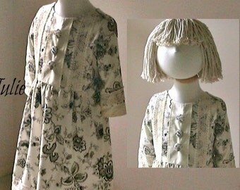 Girls Dress Pattern, Girls Sewing Pattern, DIY Girls Dress, PDF Dress Pattern, Moppet Patterns, Children's Pattern, Sewing PDF Pattern