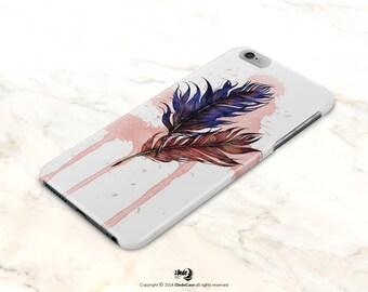 iPhone 6S Case Feather iPhone 6S Plus Case Feathers iPhone 5s Case Feather iPhone 6 Case Feathers iPhone 5 Case ink iPhone 6 Case paint 413