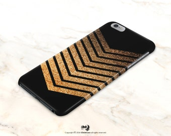 Chevron iPhone 6 Case Glitter iPhone 5 Case Glow Print iPhone 5s Case Golden Glitter iPhone 6s Case Samsung Galaxy s5 case Note Case [177]