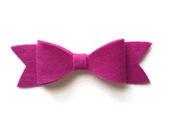 Violet felt bow