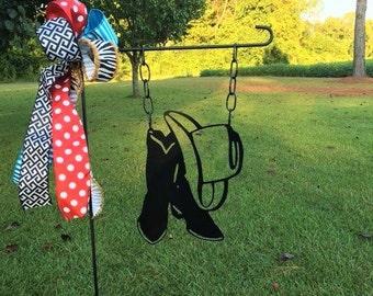 Cowboy Hat & Boots Garden Flag