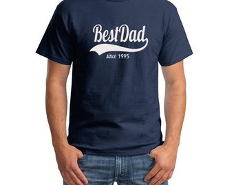 Best Dad Since 1995 T Shirt Dad Father New Baby Father's Day Best Dad Cool Tee Shirts Gifts for dad