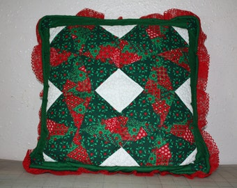 Patchwork Christmas Pillow