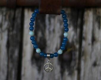 Bracelet *Peace*  jade crystal healing, gemstone