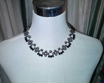 Victorian stlye beaded necklace