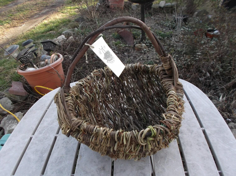 Basket Weaving Dyed Reed : Wild basket large black walnut dyed reed