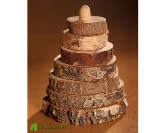 Stacking toy - Kids gifts - Pyramid Wild Nature - Eco-Friendly Wooden Toy - Developmental toys - Educational toys