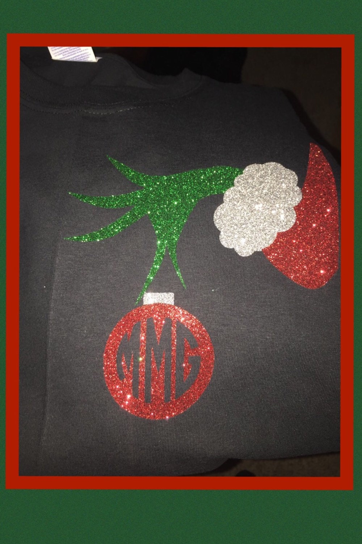 grinch ornament shirt christmas shirt glitter