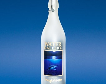 Glass |Glass Bottles | Water Bottle | Water Bottles | Glassware | Shark | Moon | Wyland | Wyland Art | Swing Top | Swing Top Bottle