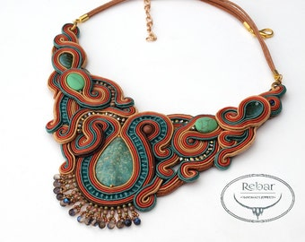 "Soutache Necklace ""Eithne"""