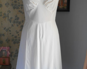 Simple White 1960's Slip