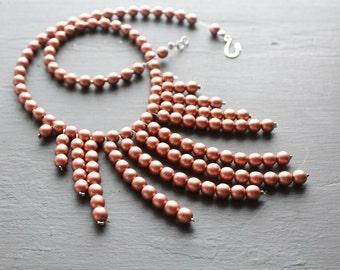 Bib statement necklace bib collar necklace drop Statement necklace layered bib necklce layered collar necklace drop bib necklace drop bib