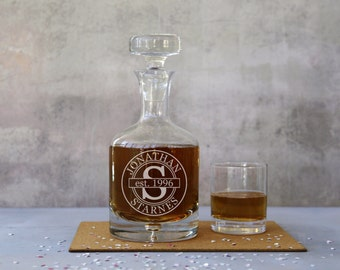Personalised Label Magnum Bubble Base Decanter