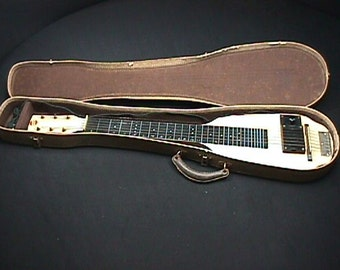 Vintage The Prep Electric Slide Guitar in it's Original Case & Plays as-is