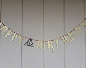 Harry Potter Birthday Banner