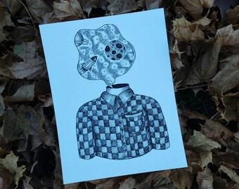Head-Space Print on Cardstock