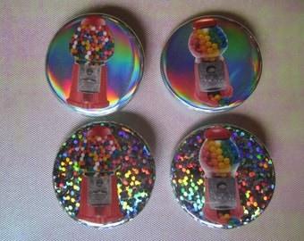 "Bubblegum Machines 1-1/4"" Pinback Buttons"