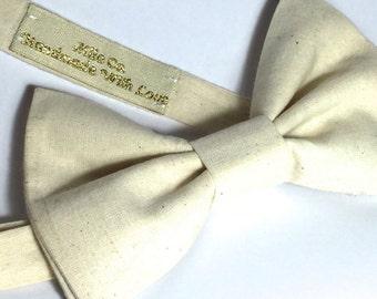 linen bow tie