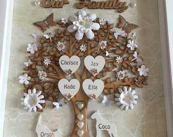 Large Family Tree12x12in