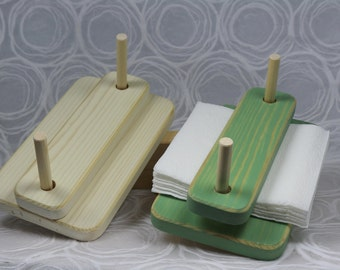 Outdoor Napkin Holder. Picnic Napkin holder. Camping. Ice Chest. Day trip. Outing.White and Green, ship immediately!