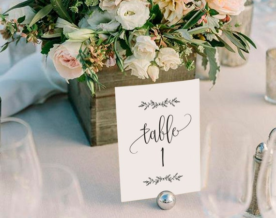 Wedding Table Numbers Printable Table Numbers Rustic Table