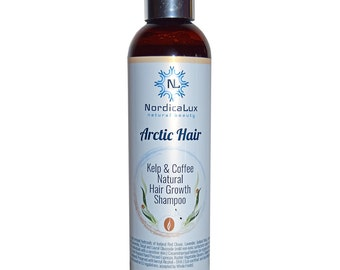 """FREE SHIPPING - Kelp and Coffee Shampoo - Prevents Hair Loss With A Natural Source Of Caffeine - Less """" Hair In The Brush' Creates Fullness"""
