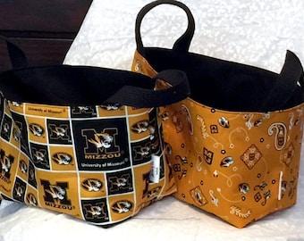 Fabric Basket- Missouri Tigers