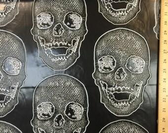 60 Inch black vinyl with skulls