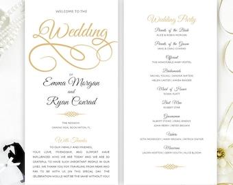Cheap Wedding Program Simple Elegant Programs For