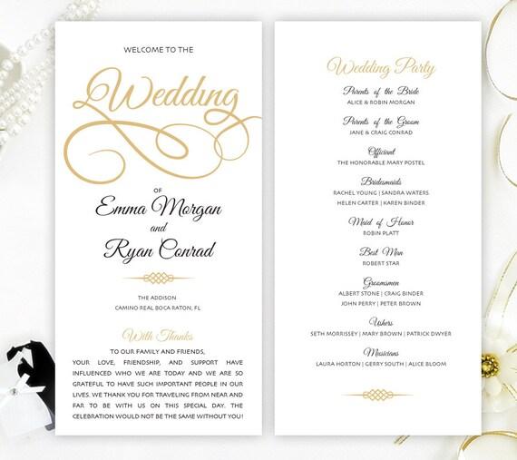 Cheap Wedding Program Simple Elegant Programs For Wedding