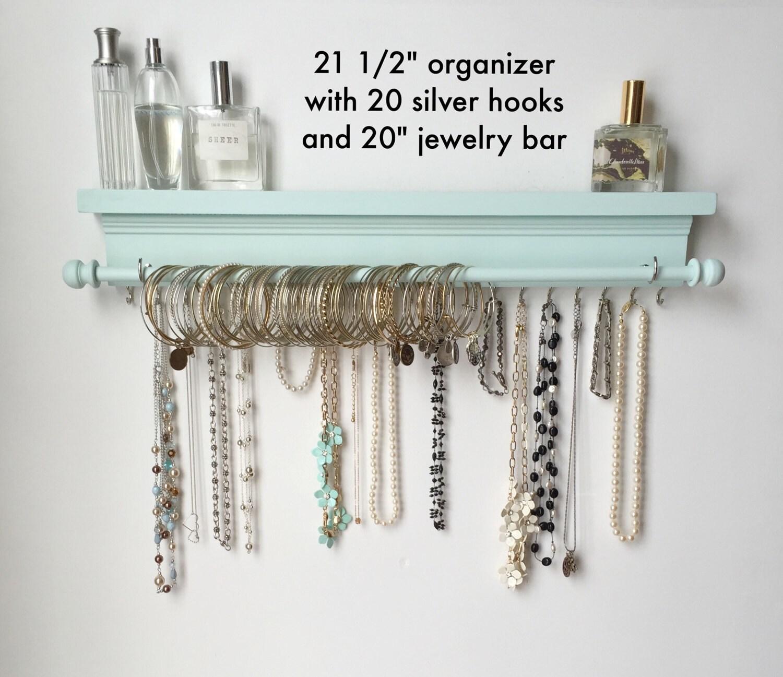 Jewelry Organizer Wall Jewelry Holder And Organizers On: Jewelry Organizer Hanging Jewelry Organizer By TimberRidgeShop