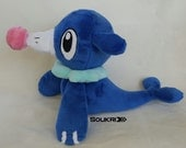Popplio Plush // Pokemon Fanart Plushie// Circus Seal // Handmade Stuffed Animal Toy // Made to Order