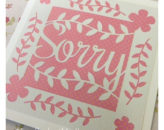 Sorry Paper Cutting Template - Commercial Use