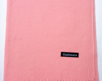 Ladies Super Soft Cashmere Luxury Feel Scarf/Shawl For Day To Evening Occasions (Light Peach)