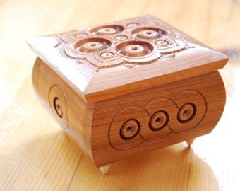 Jewelry box  Ring box  Carved wood box  Wooden box  Jewelry boxes  Wooden boxes
