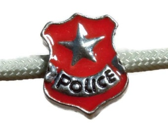 Red European Charm- Police Charm
