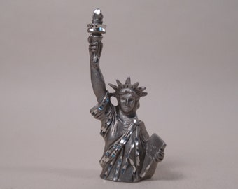SALE!  REDUCED PRICE!  Statue of Liberty Figurine Cuter Pewter 1985
