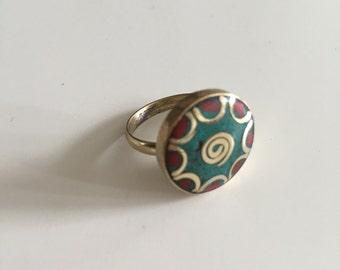 Boho ring, gypsy ring, tribal ring, bohemian jewelry, vintage ring, women ring, women jewelry