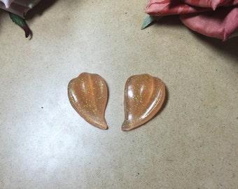 Ebony Retro Earrings ~ Glitter Colours