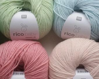 Rico Baby Classic dk soft yarn wool 50g