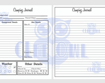 Camping Journal Printable for Your Family's Travels