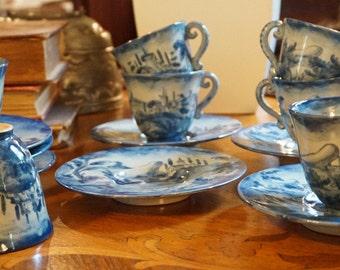 Italian Landscape Tea Cups