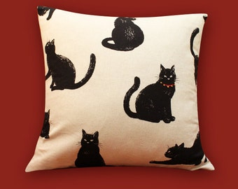Cushion Cover Pillow Cover / Black Cat(Pillow inserts are NOT included.)